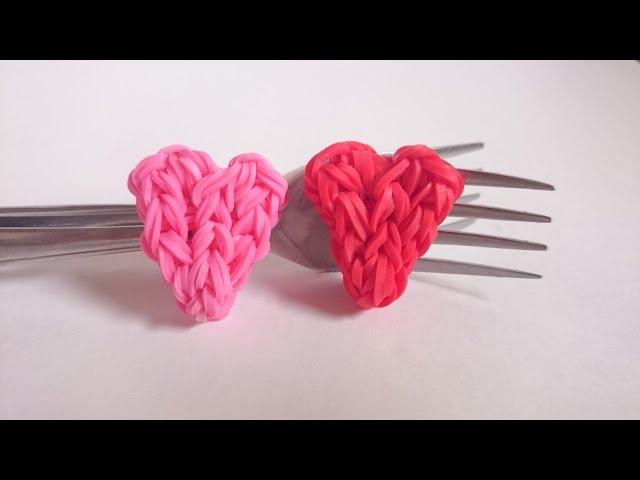 Плетение из резиночек сердечком