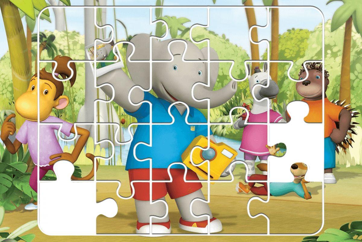 Пазл. Бабар и приключения слонёнка Баду
