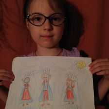 Капина Аринка - малинка и мама