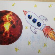Мэтью Сергеевич в конкурсе «Помоги космонавтам добраться до Марса! Нарисуй космический шатл»