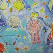 Арсений Васильевич в конкурсе «Помоги космонавтам добраться до Марса! Нарисуй космический шатл»