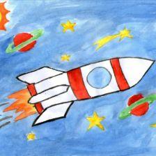Дарья Ш в конкурсе «Помоги космонавтам добраться до Марса! Нарисуй космический шатл»