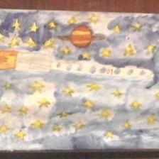 Геннадий Бронюсович Петкявичус в конкурсе «Помоги космонавтам добраться до Марса! Нарисуй космический шатл»