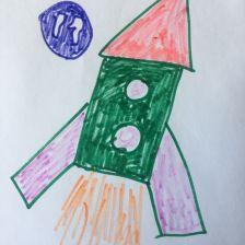 Егор Ал в конкурсе «Помоги космонавтам добраться до Марса! Нарисуй космический шатл»
