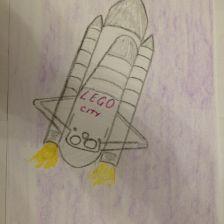 Тимур Икметович Куртумеров в конкурсе «Помоги космонавтам добраться до Марса! Нарисуй космический шатл»