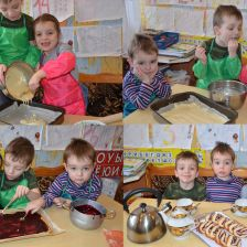 Ваня, Маша и Гордейка Мазуровы в конкурсе «Конкурс маленьких поваров»