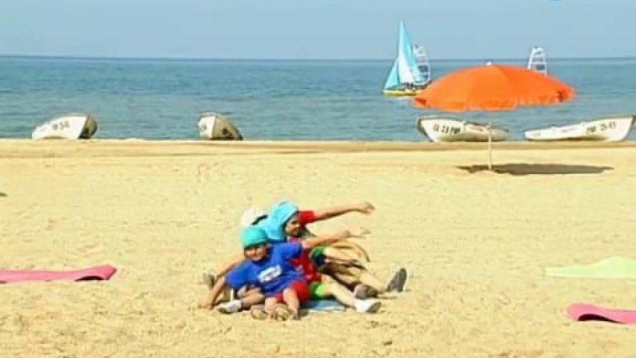 Прыг-Скок Команда. Выпуск 219. Зарядка на пляже №2