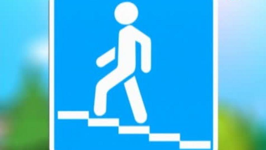 Знак «Надземный пешеходный переход»