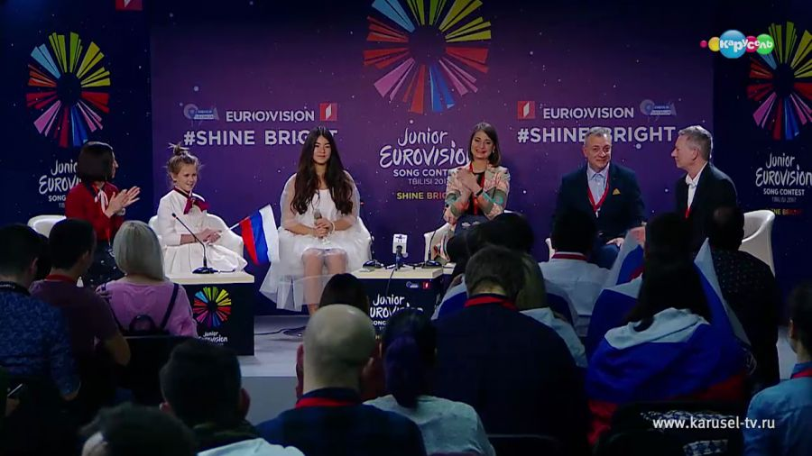 Пресс-конференция с Полиной Богусевич — победительницей международного конкурса песни «Детское Евровидение-2017»