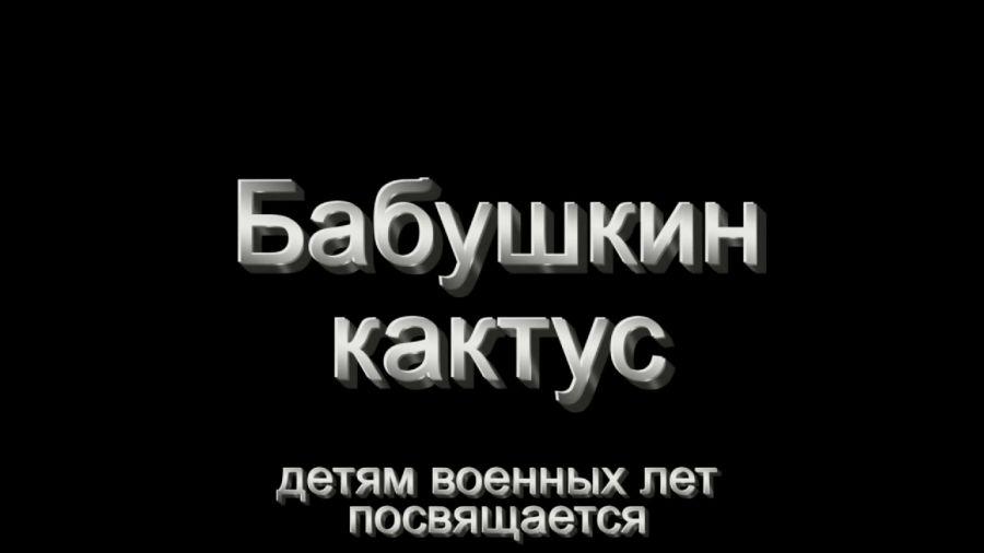 Студия анимации «КоМарфильм» (Москва). «Бабушкин кактус»