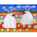 "Живопись на холсте ""Веселые зайцы"", 30 х 40 см"