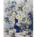"""Живопись на холсте """"Любимые цветы"""", 40 х 50 см"""