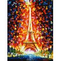 "Живопись на холсте ""Париж - огни Эйфелевой башни"", 30 х 40 см"