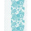 """Калька для скрапбукинга """"Узоры и горошек"""", цвет: бирюзовый, 21 х 30 см"""