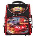 """Ранец школьный Hummingbird """"Roadrace"""", цвет: черный, красный. K32"""