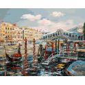 """Живопись на холсте Белоснежка """"Венеция. Мост Риальто"""", 40 х 50 см"""