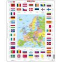 Larsen Пазл Карта и флаги Европы