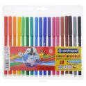 Centropen Набор смываемых фломастеров Colour World 18 цветов
