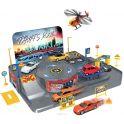 Welly Игровой набор Гараж с 3 машинами и вертолетом 96010