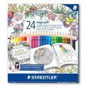 Staedtler Набор цветных карандаш Ergosoft Johanna Basford 24 цвета