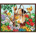 """Набор для рисования по номерам Цветной """"Лейка в саду"""", 40 х 50 см"""