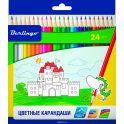 Berlingo Набор цветных карандашей Замки 24 цвета