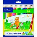Berlingo Набор цветных карандашей Жил-был кот 24 цвета