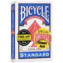 """Карты для фокусов Bicycle """"Stripper Deck"""", конусная колода, цвет: синий, белый, 54 шт"""