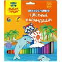 Мульти-Пульти Набор акварельных карандашей Енот в Карибском море 24 цвета