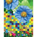 Апплика Дневник школьный Коллаж голубые цветы
