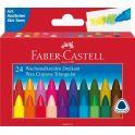 Faber-Castell Набор восковых карандашей Triangular трехгранные 24 цвета