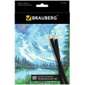 Brauberg Набор цветных карандашей Artist Line 18 цветов