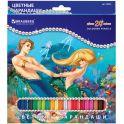 Brauberg Набор цветных карандашей Морские легенды 24 цвета