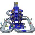 Полесье Парковка 4 уровня с дорогой и автомобилями цвет синий