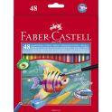Faber-Castell Акварельные карандаши Рыбкис кисточкой 48 шт
