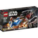 LEGO Star Wars Конструктор Истребитель типа A против бесшумного истребителя СИД 75196