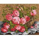 """Набор для рисования по номерам Мосфа """"Розы из сада"""", 40 х 50 см"""