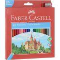 Faber-Castell Набор цветных карандашей Eco с точилкой 48 цветов цвет точилки красный