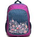 4ALL Рюкзак School цвет серый фиолетовый