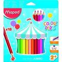 Maped Набор цветных карандашей Color Pep's Jumbo 18 цветов