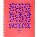Канц-Эксмо Тетрадь Насыщенные цвета 96 листов в клетку цвет оранжевый фиолетовый
