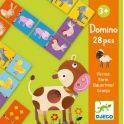 Djeco Детская настольная игра Домино Ферма