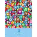 BG Тетрадь Кнопки 96 листов в клетку цвет голубой 17827