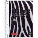 Brunnen Колледж-тетрадь Zebra 80 листов в клетку цвет серый черный