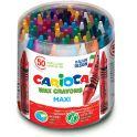 Carioca Набор крупных восковых мелков Wax Crayons Maxi 50 шт