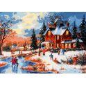 """Картина по номерам Рыжий кот """"Рождественские каникулы"""", Х-6148, 43 х 40 см"""