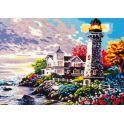 "Картина по номерам Рыжий кот ""Маяк и домик"", Х-7828, 36 х 40 см"