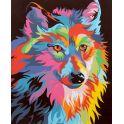 """Картина по номерам Школа талантов """"Волк разноцветный"""", 2452186, 30 х 40 см"""