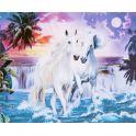 """Картина по номерам Школа талантов """"Пара лошадей"""", 2467699, 30 х 40 см"""
