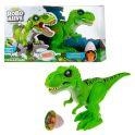 """Zuru RoboAlive T19289 Игровой набор """"Робо-Тираннозавр"""" зеленый (+слайм в наборе)"""
